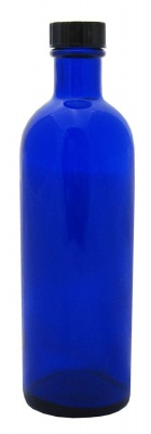 Blue Tall Glass Bottle 100ml