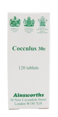 Ainsworths Cocculus 30c 120 tabs
