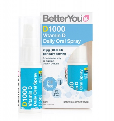 Better You D1000 Vitamin D Daily Oral Spray 15ml