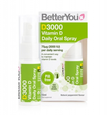 Better You D3000 Vitamin D Daily Oral Spray 15ml