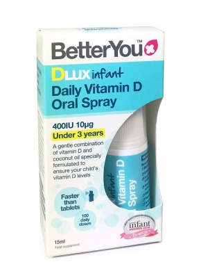 Better You DLuxInfant 400iu Daily Oral D3 Spray 15ml