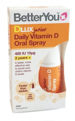 Better You DLuxJunior Daily Oral 400iu D3 Spray 15ml