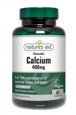 Natures Aid Calcium (Chewable) 400mg 60 tabs
