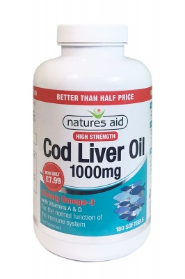 Cod Liver Oil 1000mg 180 caps Better Than Half Price