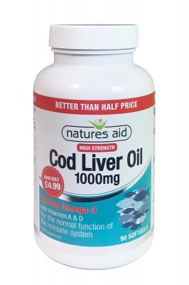 Cod Liver Oil 1000mg 90 caps Better Than Half Price