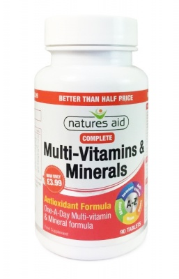 Natures Aid Complete Multi-Vitamins & Minerals 90 tabs Better Than Half Price
