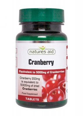 Natures Aid Cranberry 200mg 90 tabs