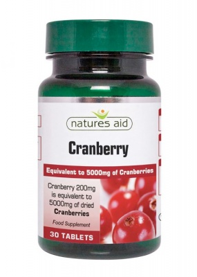 Natures Aid Cranberry 200mg 30 tabs