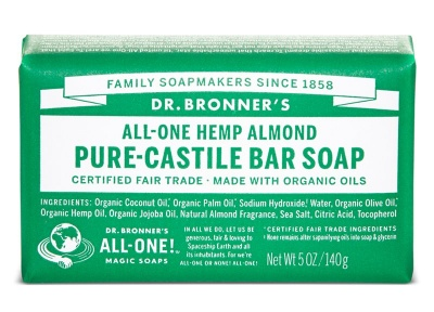 Almond Pure Castile Soap Bar 140g
