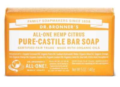 Citrus Pure Castile Soap Bar 140g