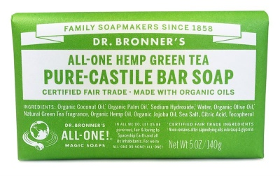 Green Tea Castile Soap Bar 140g