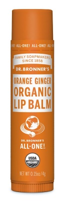 Dr Bronners Orange Ginger Organic Lip Balm 4g