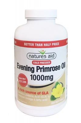 Natures Aid Evening Primrose Oil 1000mg 180 Softgels Better Than Half Price