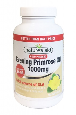 Natures Aid Evening Primrose Oil 1000mg 90 Softgels Better Than Half Price