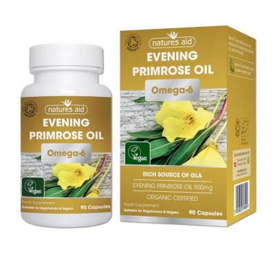 Natures Aid Evening Primrose (Organic) 500mg 90 caps