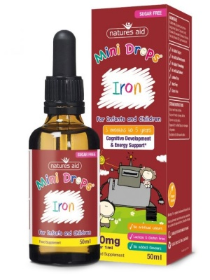 Natures Aid Iron Mini Drops 50ml