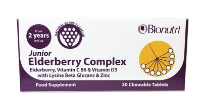 Bionutri Junior Elderberry Complex 30 Chewable Tabs