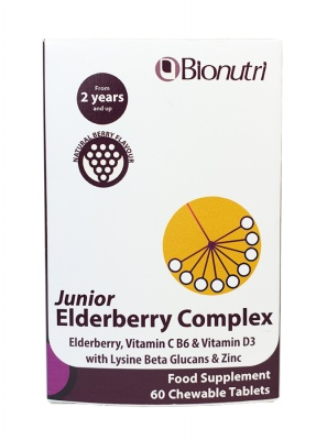 Bionutri Junior Elderberry Complex 60 Chewable Tabs