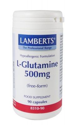Lamberts L Glutamine 500mg  90 caps