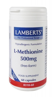Lamberts L Methionine 500mg 60 caps