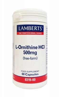 Lamberts L Ornithine 500mg 60 caps