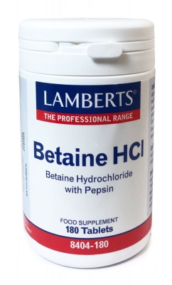 Betaine HCI With Pepsin 180 tabs