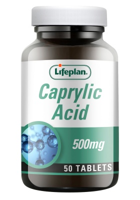 Lifeplan Caprylic Acid 500mg 50 tabs