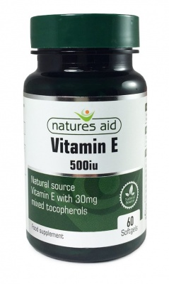 Natures Aid Vitamin E (Natural) 500iu 60 caps