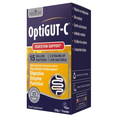 Natures Aid OptiGUT-C 120g Powder