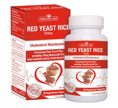 Natures Aid Red Yeast Rice 333mg 30 caps