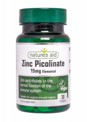 Natures Aid Zinc Picolinate 15mg elemental 30 tabs