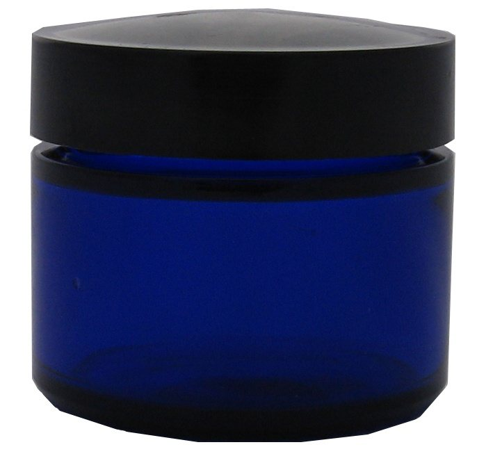 Absolute Aromas Blue Glass Jar And Lid 50ml