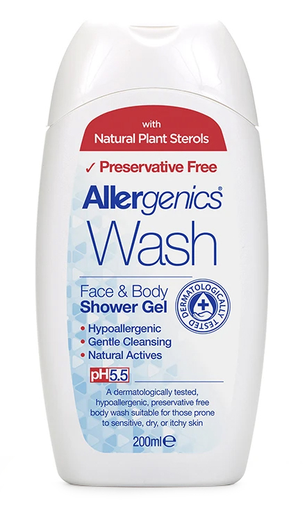 Allergenics Wash Face & Body Shower Gel 200ml