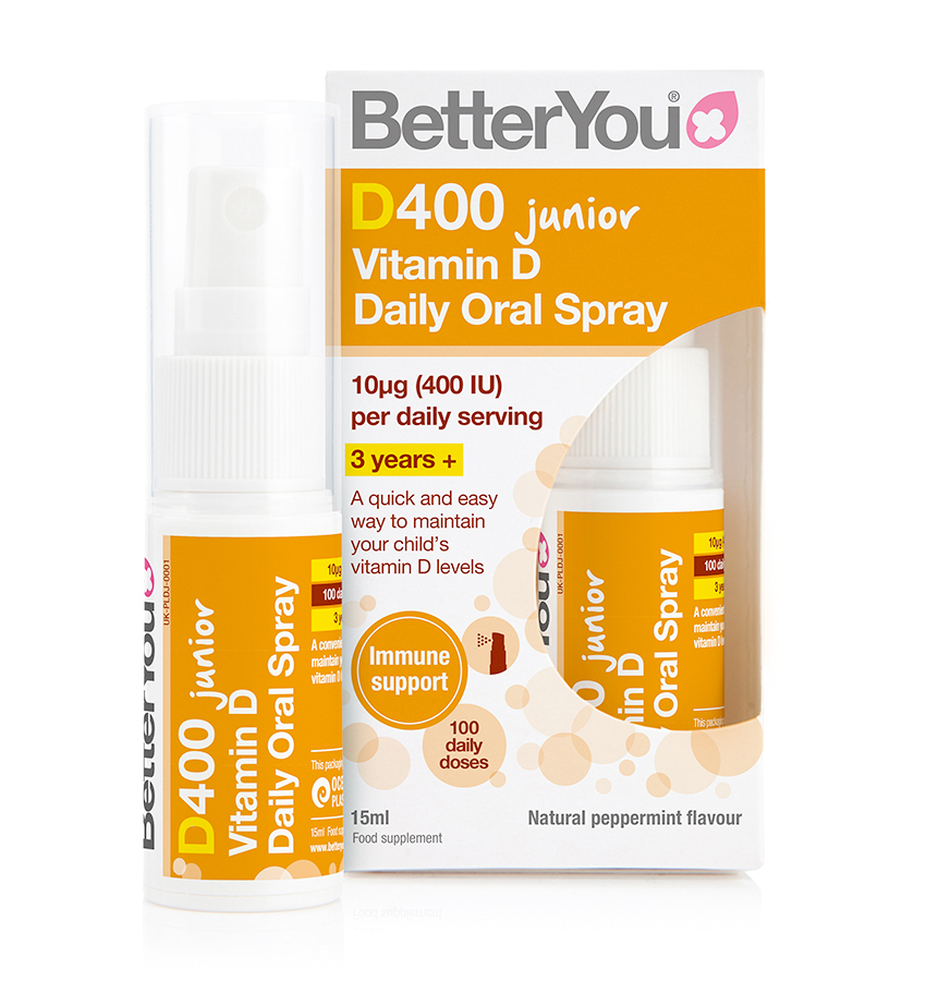 Better You D400 Junior Vitamin D Daily Oral Spray 15ml