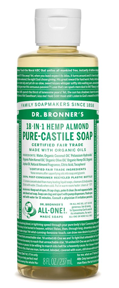 Dr Bronners Almond Castile Liquid Soap 473ml