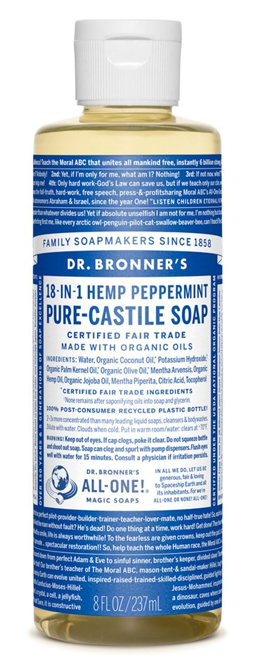 Dr Bronners Peppermint Castile Liquid Soap 946ml