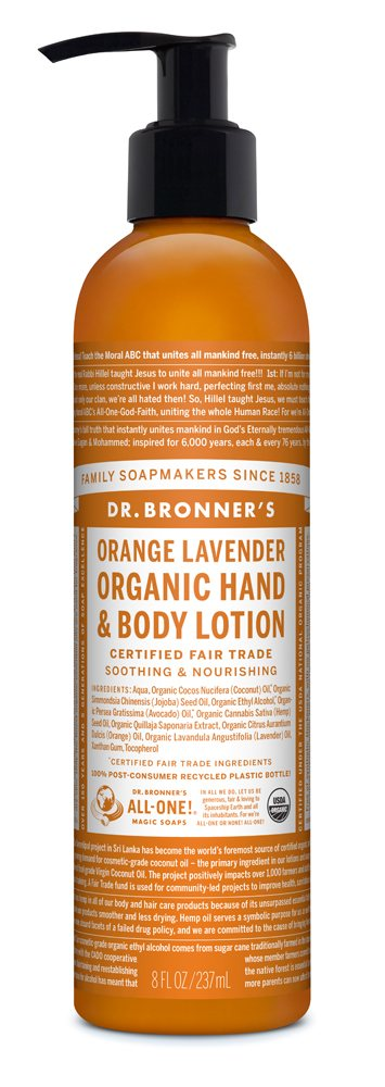 Dr Bronners Orange Lavender Hand & Body Organic Lotion 237ml