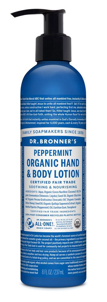 Dr Bronners Peppermint Organic Hand & Body Lotion 237ml