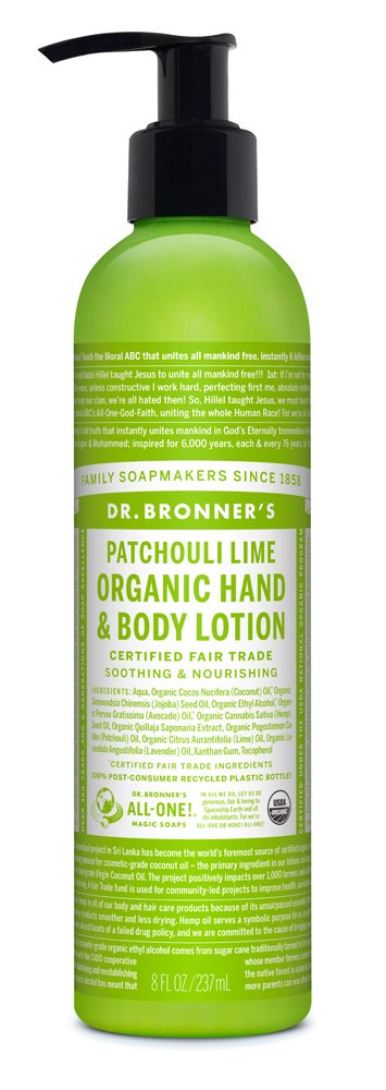 Dr Bronners Patchouli Lime Organic Hand & Body Lotion 237ml