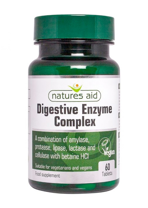 Natures Aid Digestive Enzyme Complex  60 tabs
