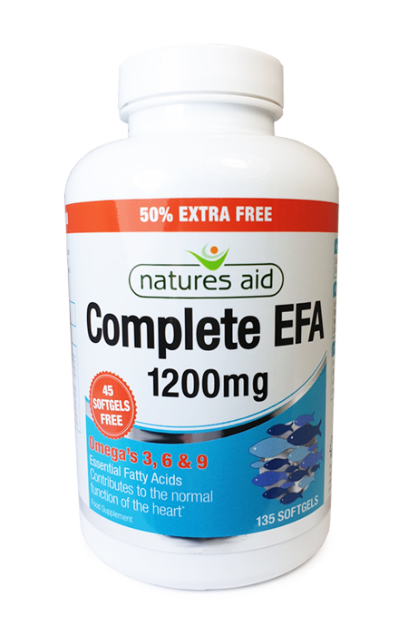 Natures Aid Complete EFA 1200mg 90 Softgels + 45 Free