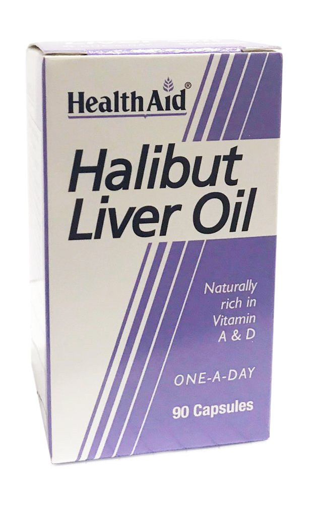 Health Aid Halibut Liver Oil 90 caps