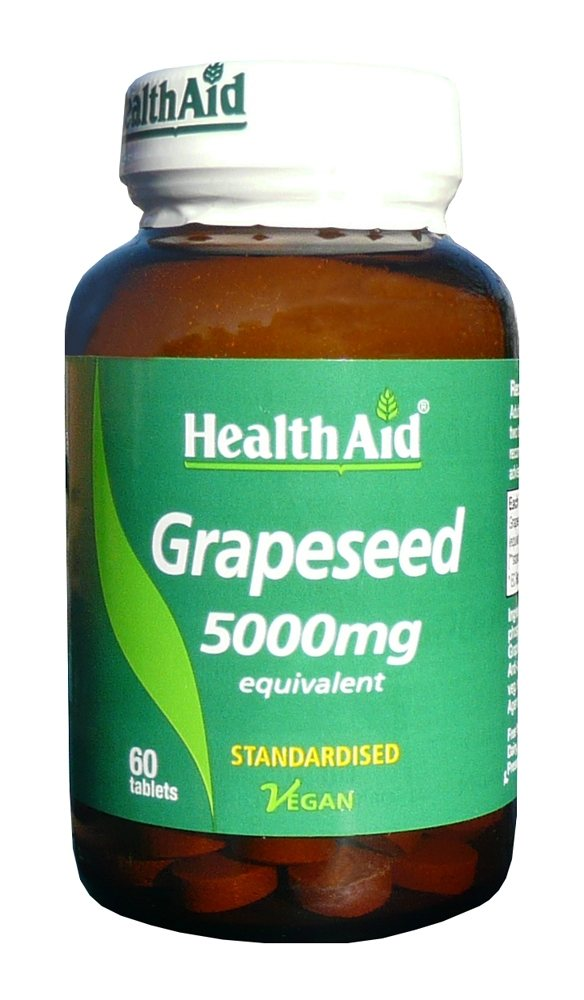 Health Aid Grapeseed Extract 5000mg 60 tabs