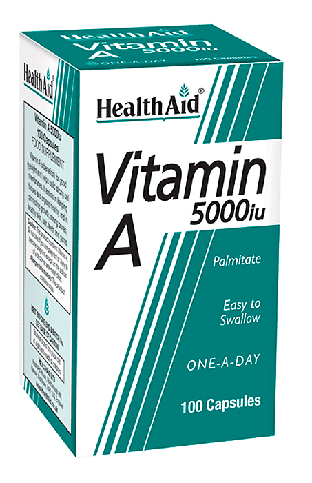 Health Aid Vitamin A 5000iu 100 caps