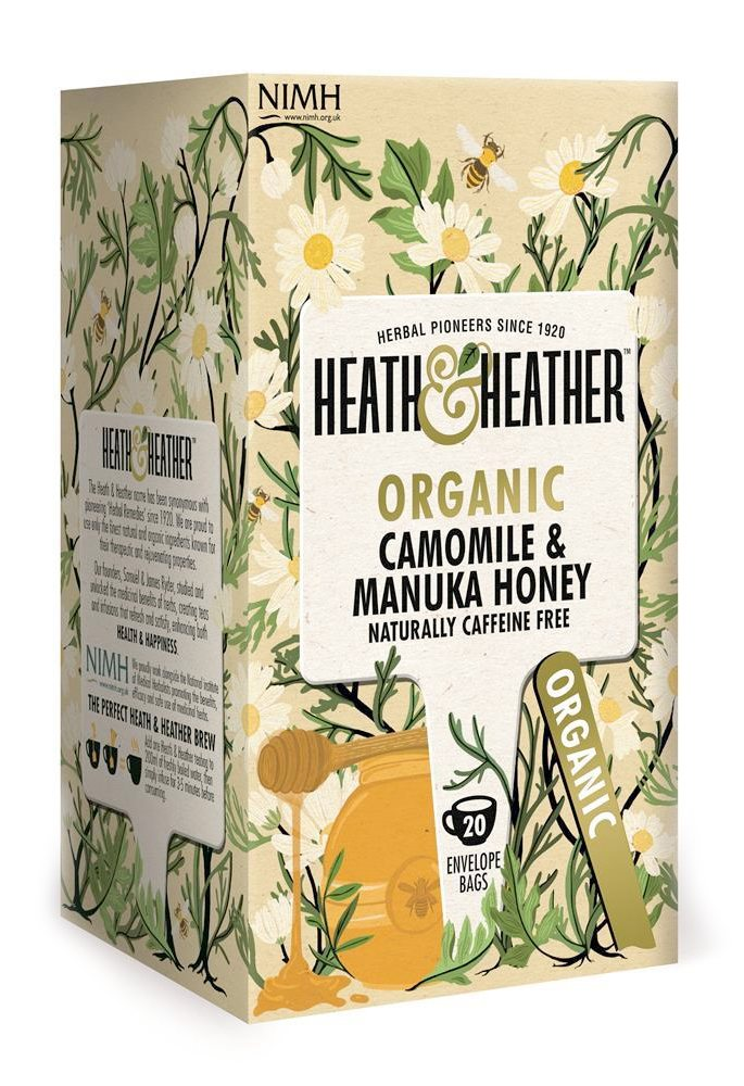 Heath & Heather Organic Camomile With Manuka Honey 20 Bags