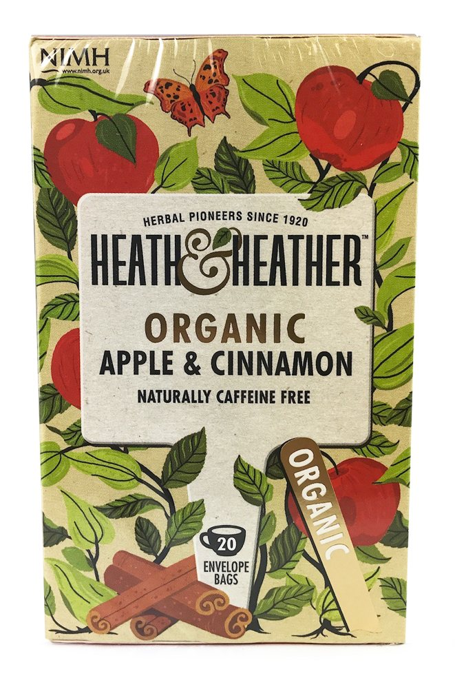 Heath & Heather Organic Apple & Cinnamon 20 Bags