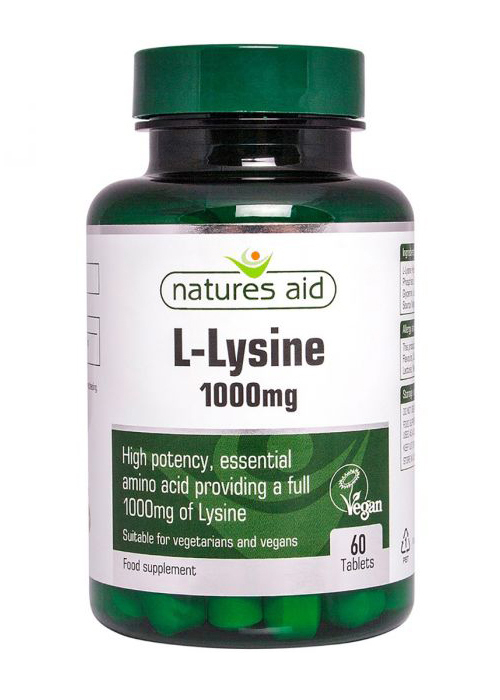 Natures Aid L-Lysine 1000mg 60 tabs