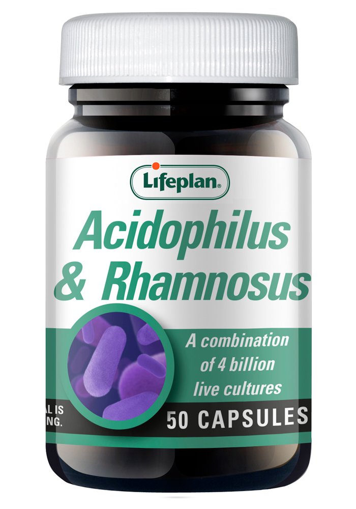 Lifeplan Acidophilus & Rhamnosus 4 Billion 50 vcaps