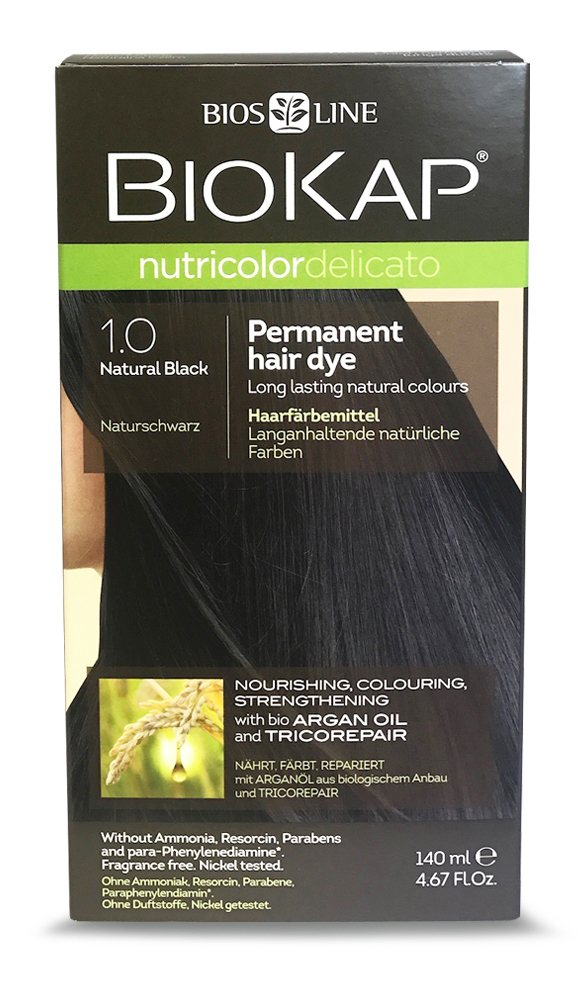 BioKap Natural Black 1.0 Permanent Hair Dye 140ml