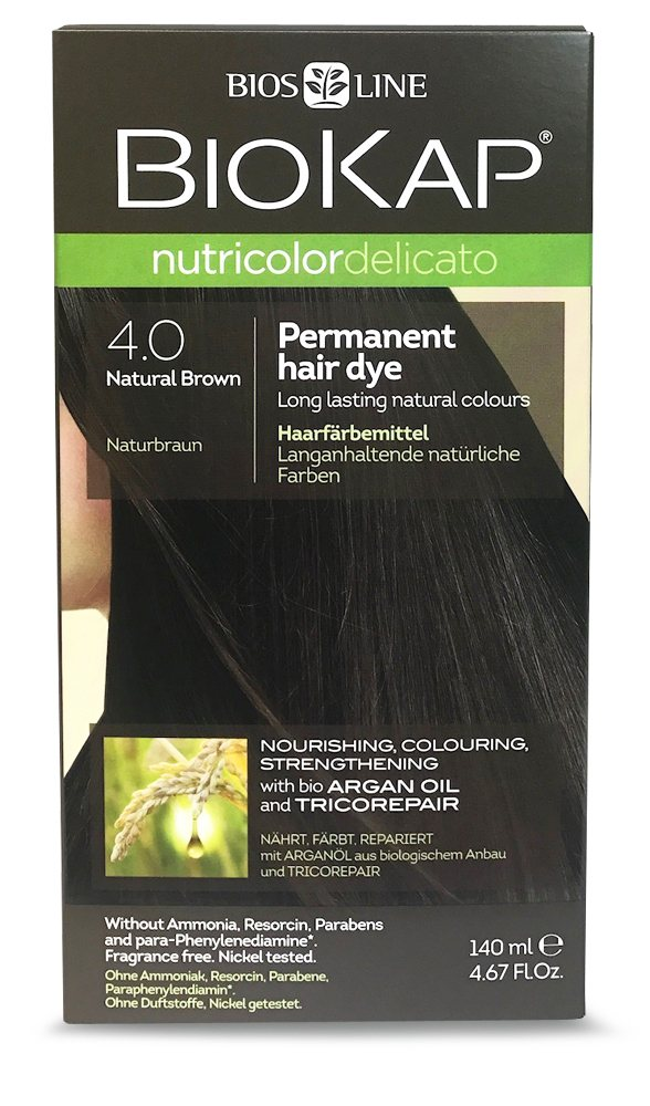 BioKap Natural Brown 4.0 Permanent Hair Dye 140ml